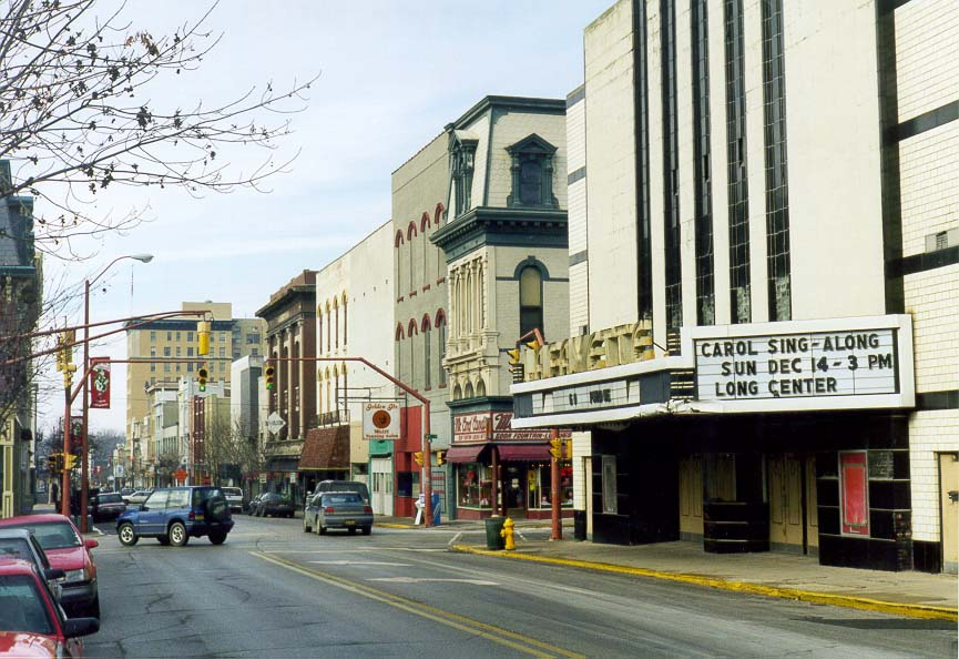 Main St. in downtown Lafayette. Indiana