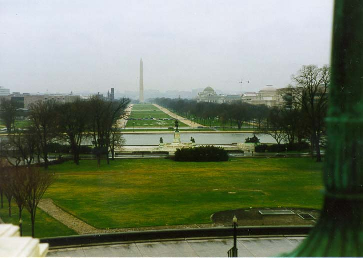 View of Washington Monument from the Capitol. Washington DC