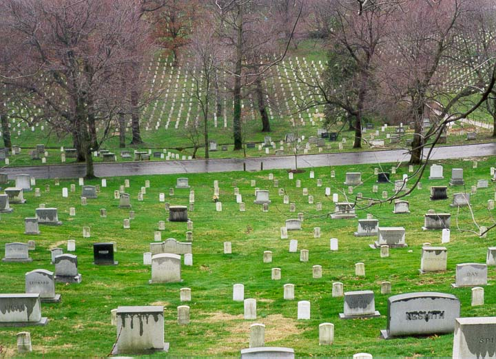 Graves of soldiers at Arlington Cemetery. Washington DC