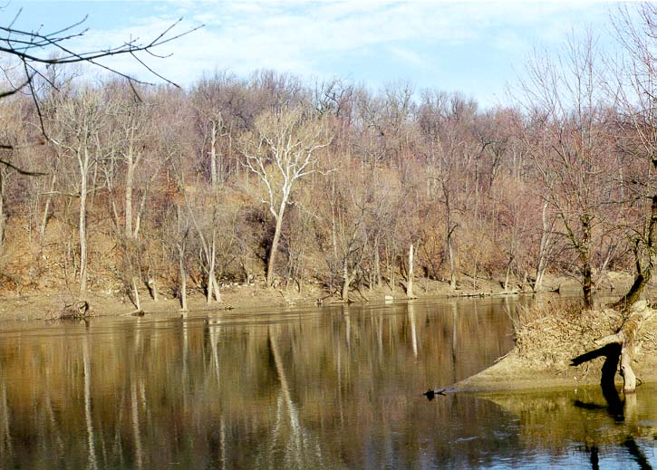 View of Wabash River and Heron Island from...Lafayette and Battle Ground, Indiana
