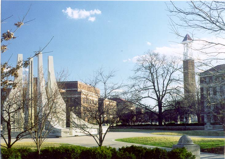 Purdue University Mall and Bell Tower. West Lafayette, Indiana