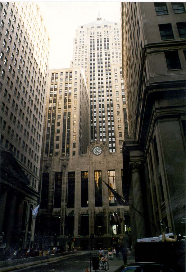 La Salle St. and Board of Trade Building. Chicago