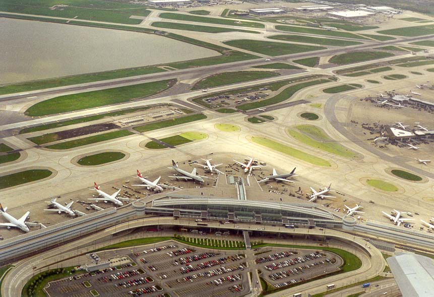 Indianapolis airport seen from a window of a...Frankfurt-Chicago-Indianapolis