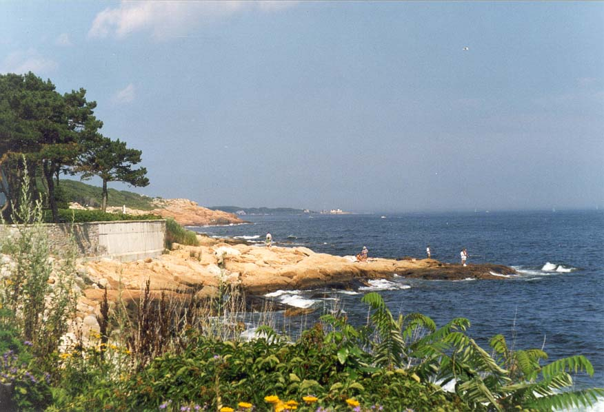 Atlantic Ocean in Rockport, north from Boston. Massachusetts
