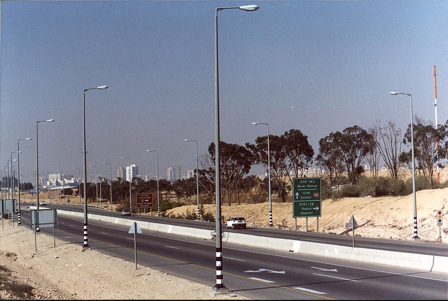 Northern approach to Beer-Sheva, Hevron Rd.. The Middle East