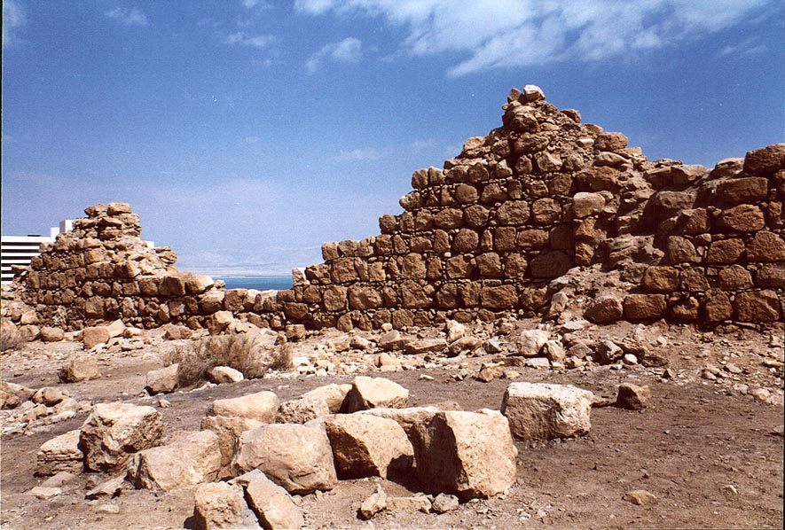 Ruins of the Roman fort Matzad Bokek near Ein Bokek. The Middle East