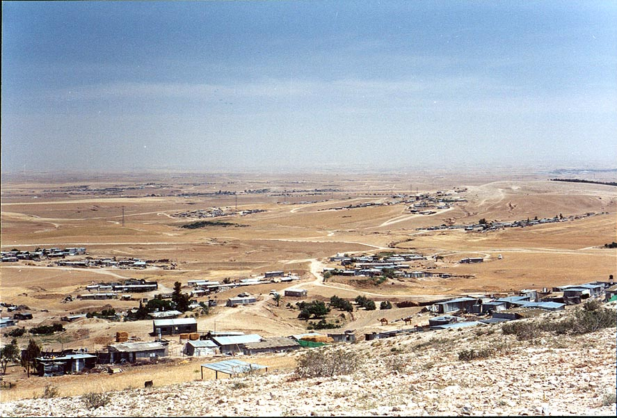 "Illegal"" Bedouin villages on Southern Hebron...from BGU. Beer-Sheva, the Middle East"