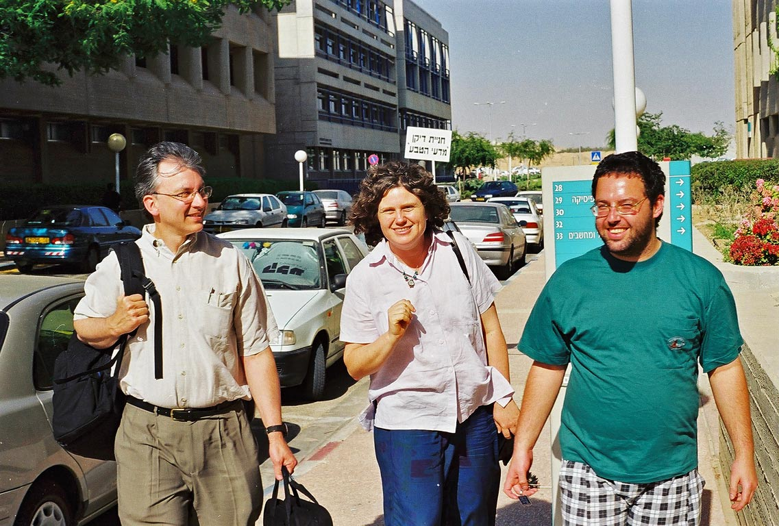 E. Heller, B. Segev, and S. Kallush heading for...Ben-Gurion University of the Negev