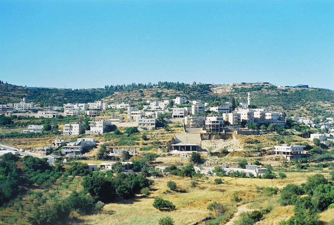 Villages near the road west from Jerusalem. The Middle East