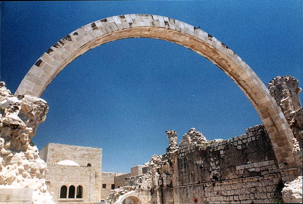 Arch of the Hurva (Ruined Synagogue) in the Old City. Jerusalem, the Middle East