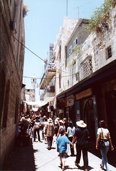 A street in the Old City. Jerusalem, the Middle East