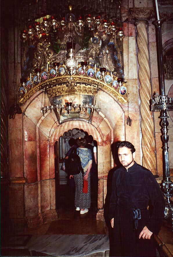 Entrance to Holy Sepulchre in Old City of Jerusalem. The Middle East
