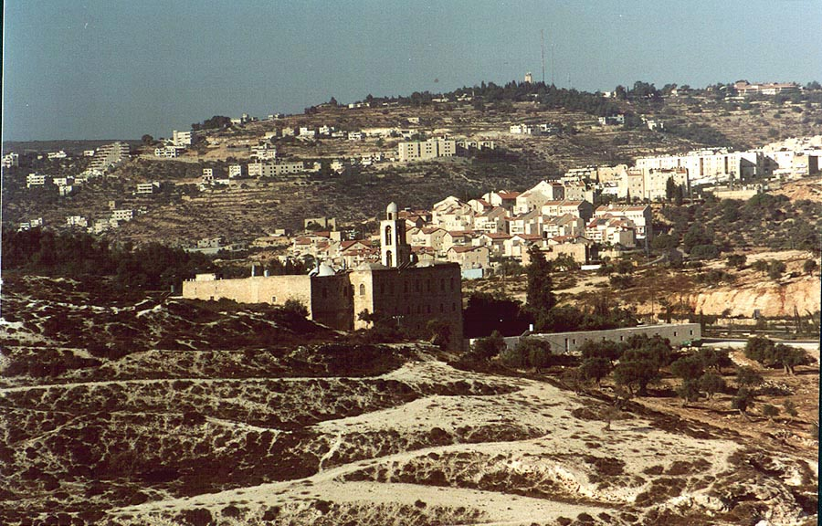 View of Mar Elyas Orthodox Monastery at an...Rachel. Jerusalem, the Middle East