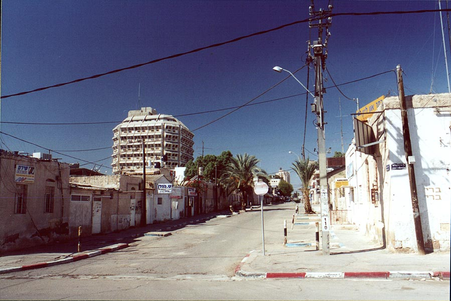 Old City of Beer-Sheva during Shabbat, view from...and Hadassah St.. The Middle East