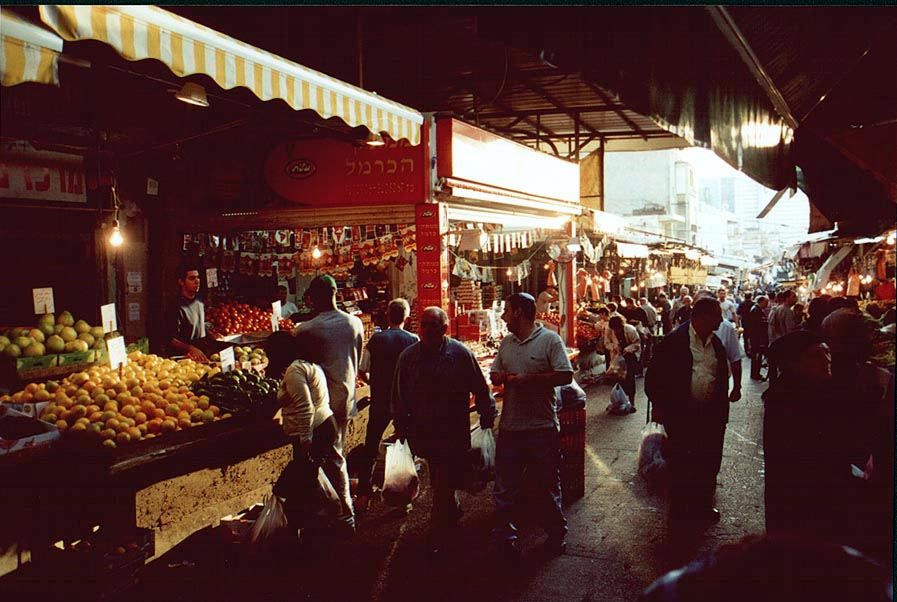 Carmel Market on Hacarmel St., likely site for future bombings. Tel Aviv, the Middle East