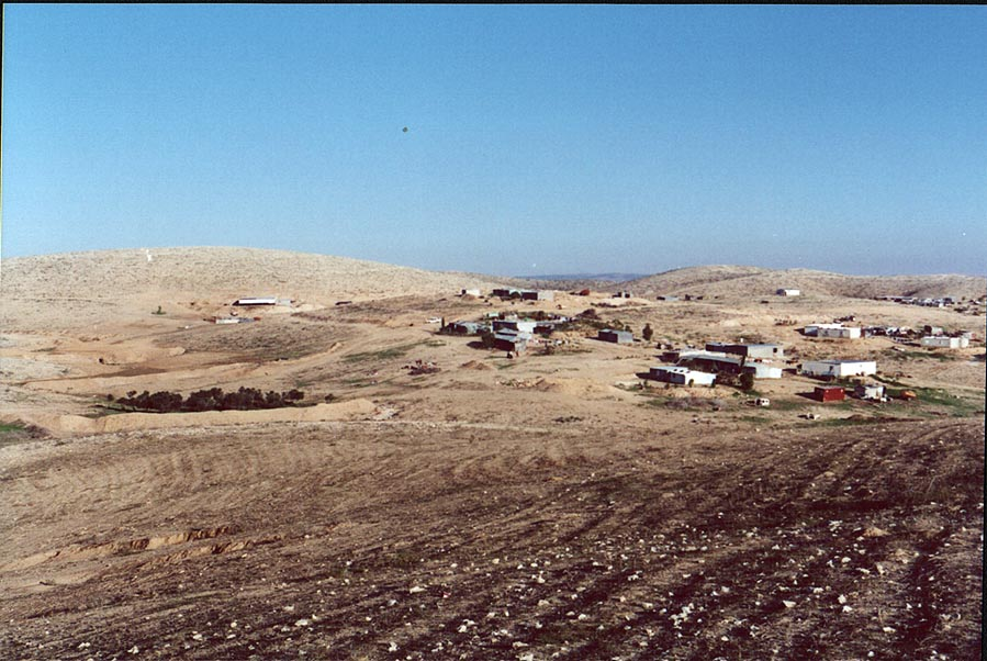 Bedouin villages in Negev Desert, 2 miles north from Beer-Sheva. The Middle East
