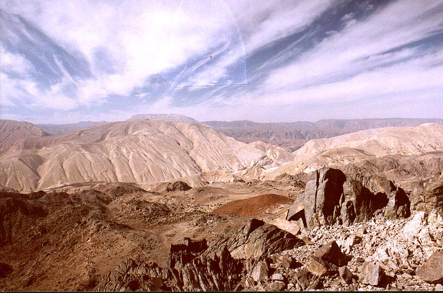 Mountains on Egypt border near Taba, 3 miles south-east from Eilat. The Middle East