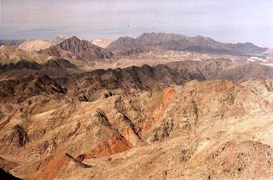 Mountains west from Eilat, view from Mount...south-east from Eilat. The Middle East