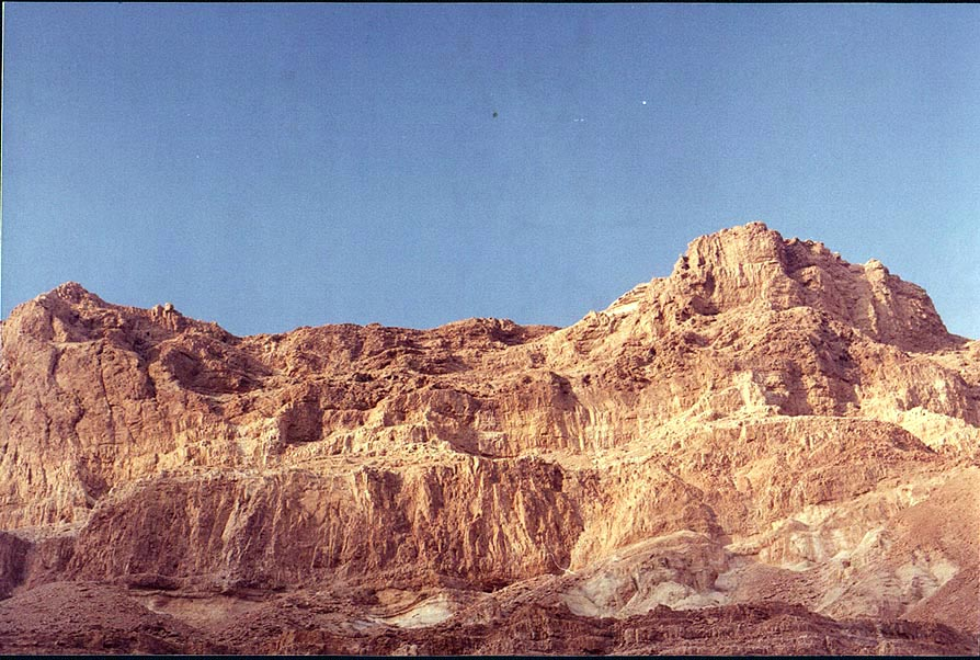 Mountains on northern side of Nahal Tseelim...north from Masada. The Middle East