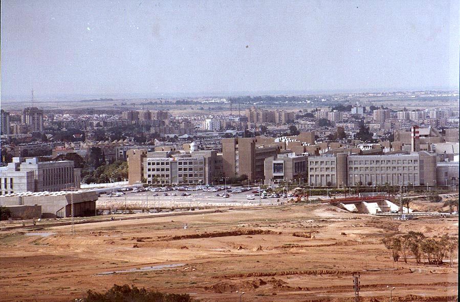 View of Ben Gurion University of the Negev from a...Brigade Memorial. The Middle East