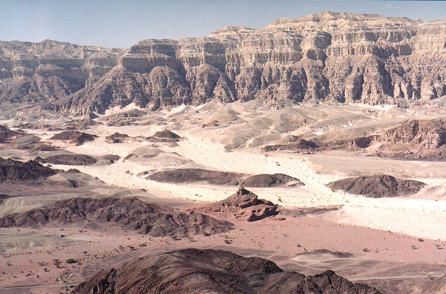 View of Spiral Hill, Timna Stream and Timna...from Timna Stage. The Middle East