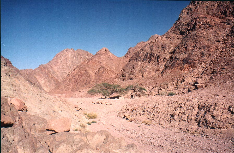 Geological Trail in Timna mountains, the end. The Middle East