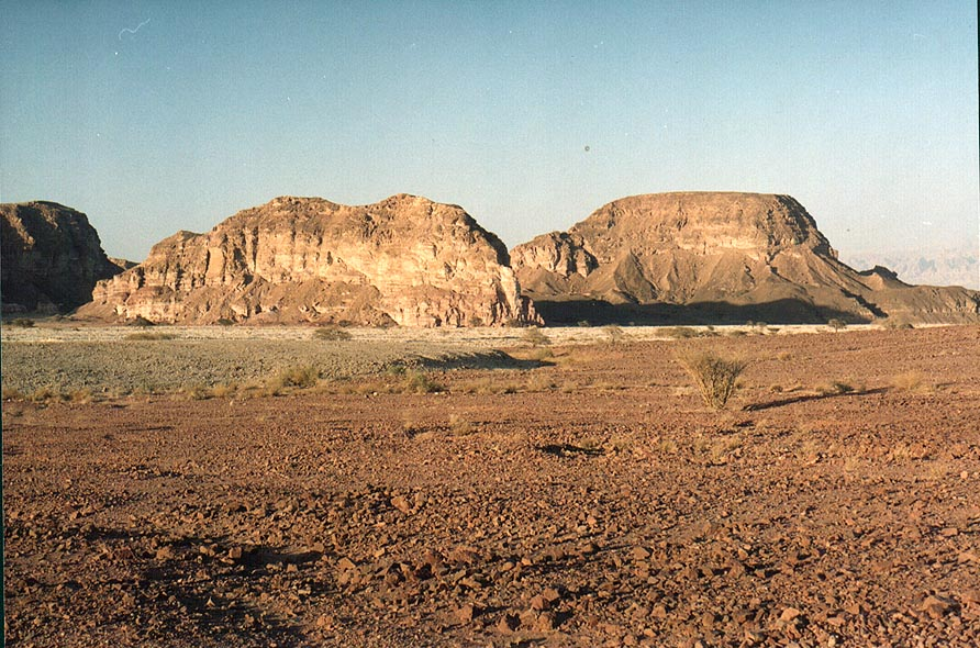 Sasgon Hill north from Timna Park. The Middle East