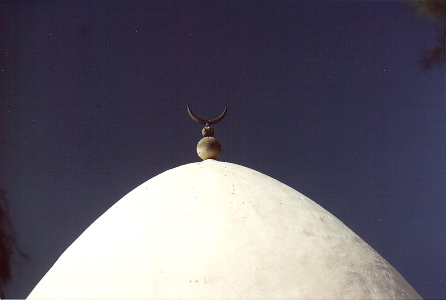A dome of the large mosque near the Old City. Beer-Sheva, the Middle East