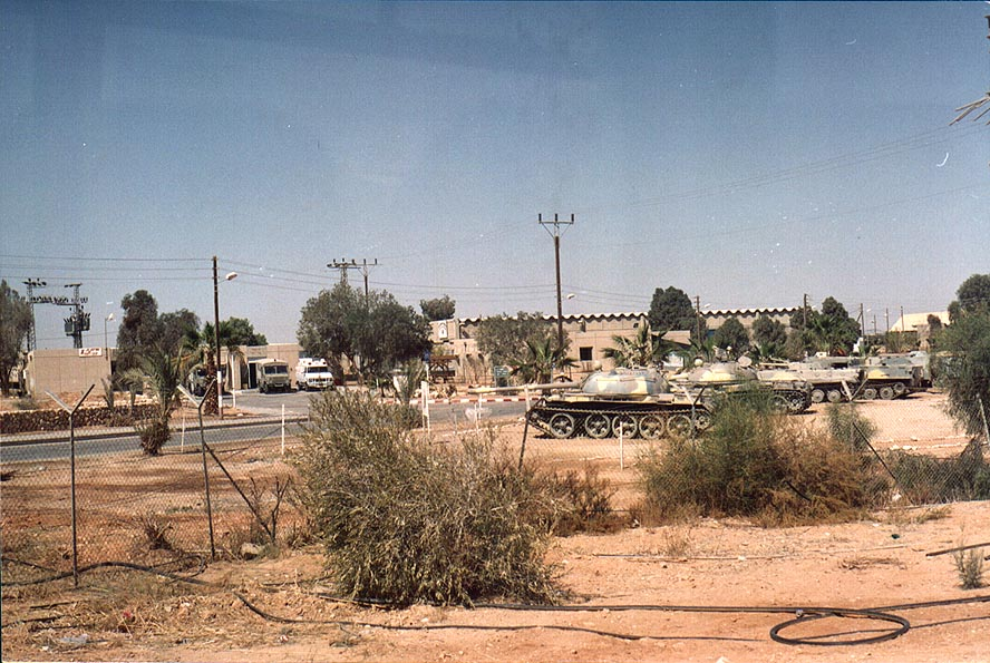 Israeli tanks in Mahane Shizzafon military base...on Rd. 40 to Eilat. The Middle East