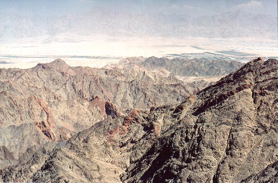View of Eilat Mountains and Arava Valley from...north-west from Eilat. The Middle East