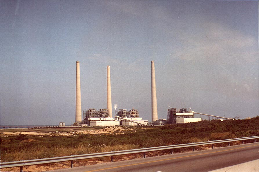 Hadera power plant, view from Rd. 4 . The Middle East