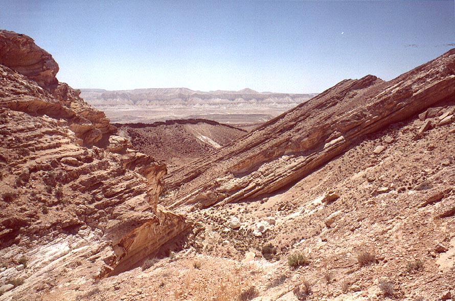Nahal Darokh river below the horseshoe formation...east from Sde Boker. The Middle East