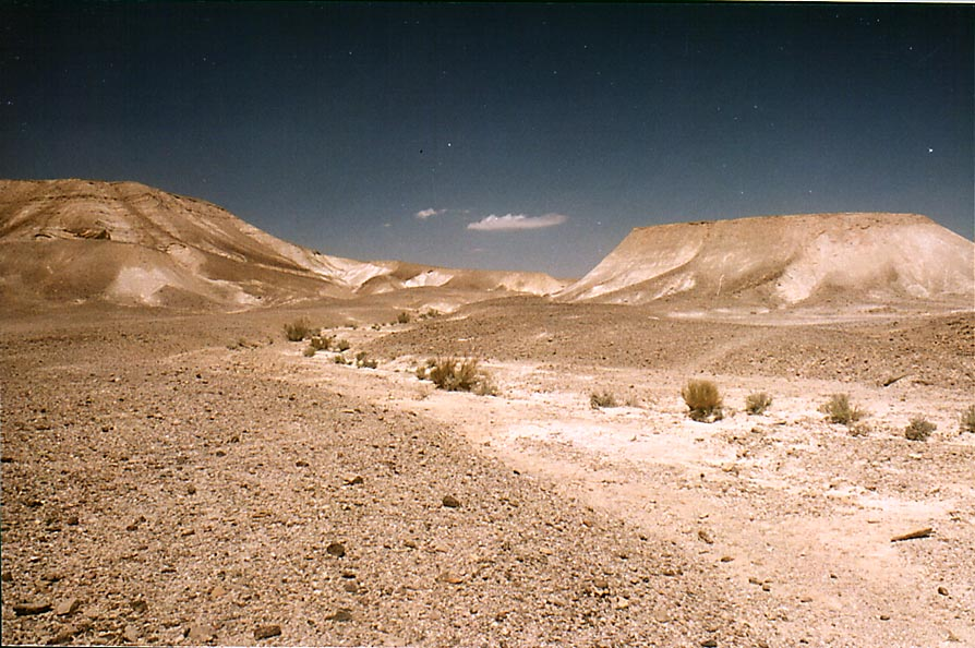 Judean Desert on a plateau above Ein Bokek. The Middle East