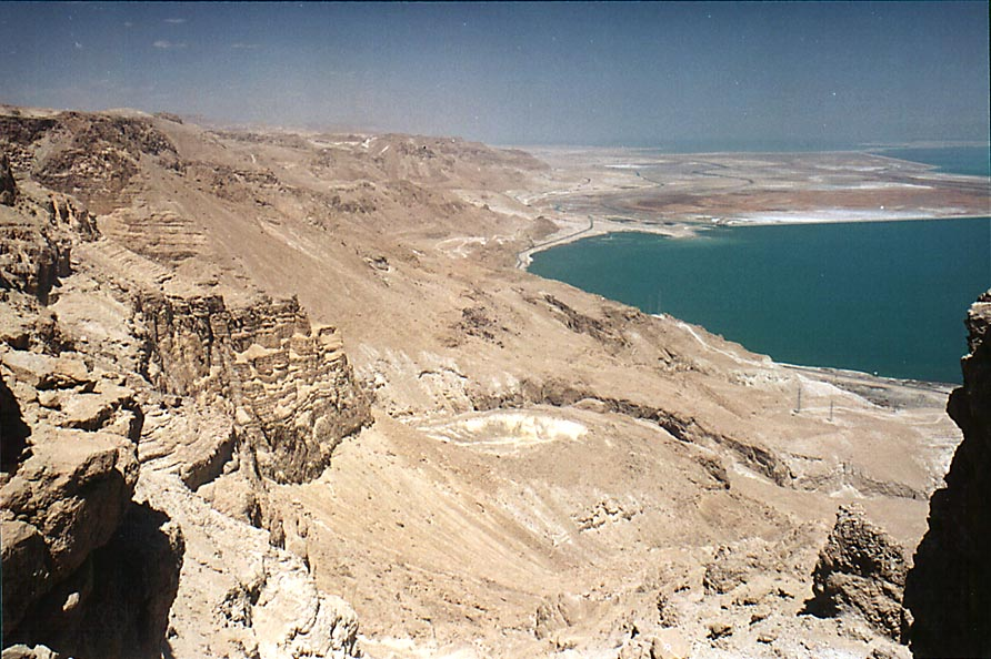 View of shore of Red Sea to the north from Maale Bokek ascent. The Middle East