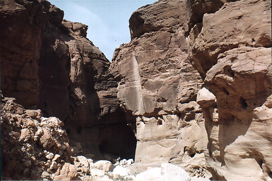Approaching Roman Cave (blue trail) in western Timna Park, near Eilat. The Middle East