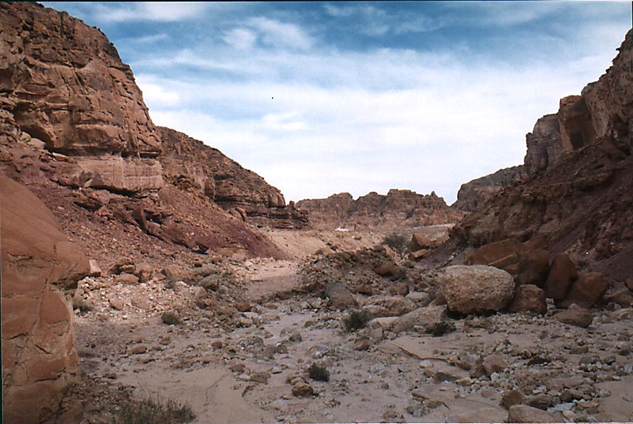 A wadi along the blue trail (area of canyons) in...Park, near Eilat. The Middle East