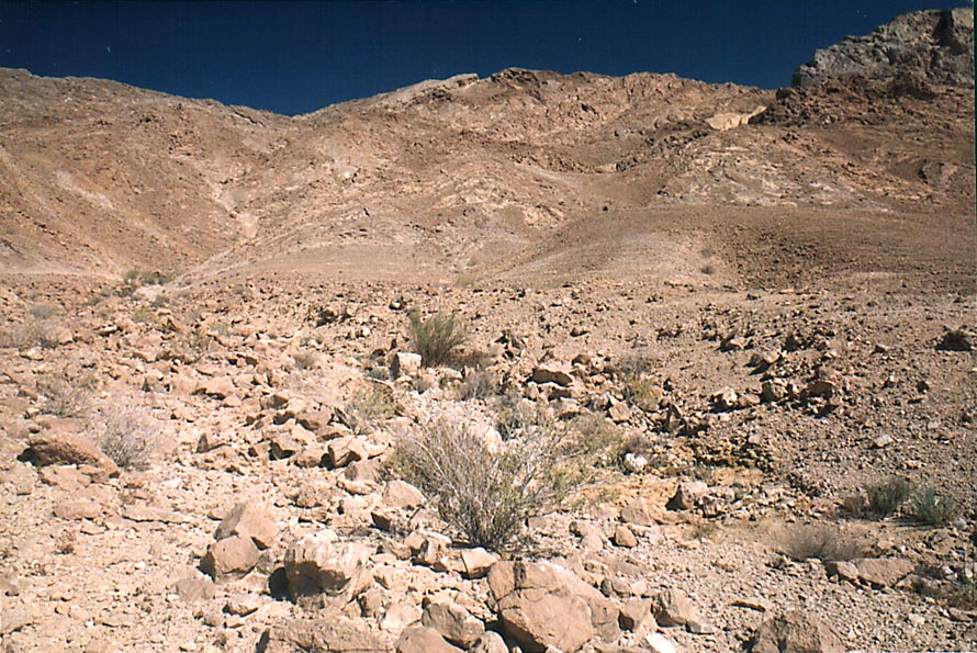 Southern side of Ramon Crater near Ammonites wall...from Mitzpe Ramon. The Middle East