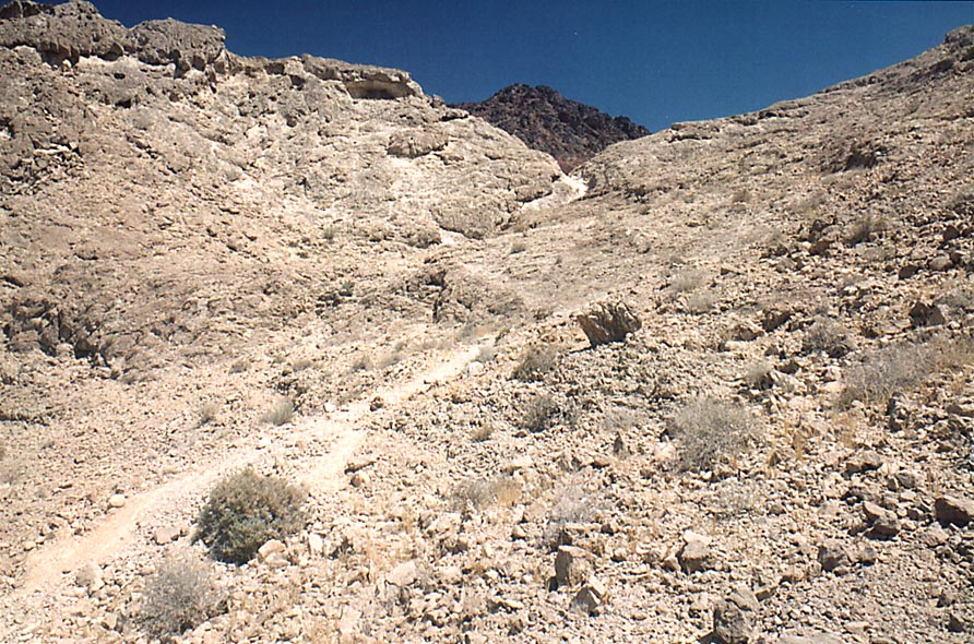 A trail to Ramon's Tooth (black hill), 6 miles...from Mitzpe Ramon. The Middle East