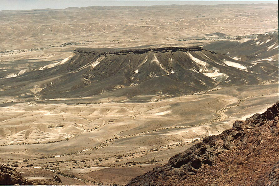 View of Negev Desert to the south from Ramon's...from Mitzpe Ramon. The Middle East