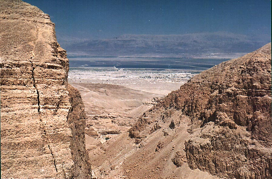 View of the Dead Sea from the opening of the...view to the east. The Middle East