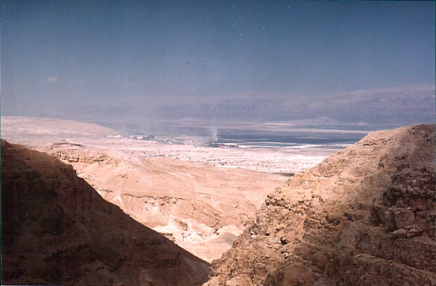 View of the Dead Sea Works from the opening of...to the north-east. The Middle East