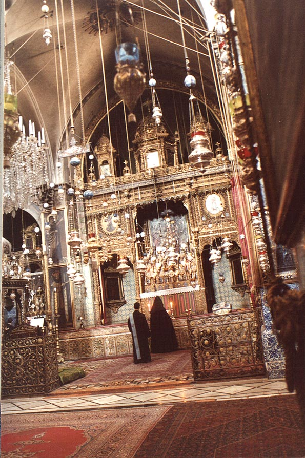 St.James Armenian Church in Old City of Jerusalem. The Middle East