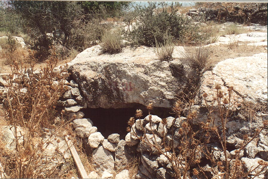 A cave in the abandoned village Soofla, 3 miles east from Beit Shemesh. The Middle East
