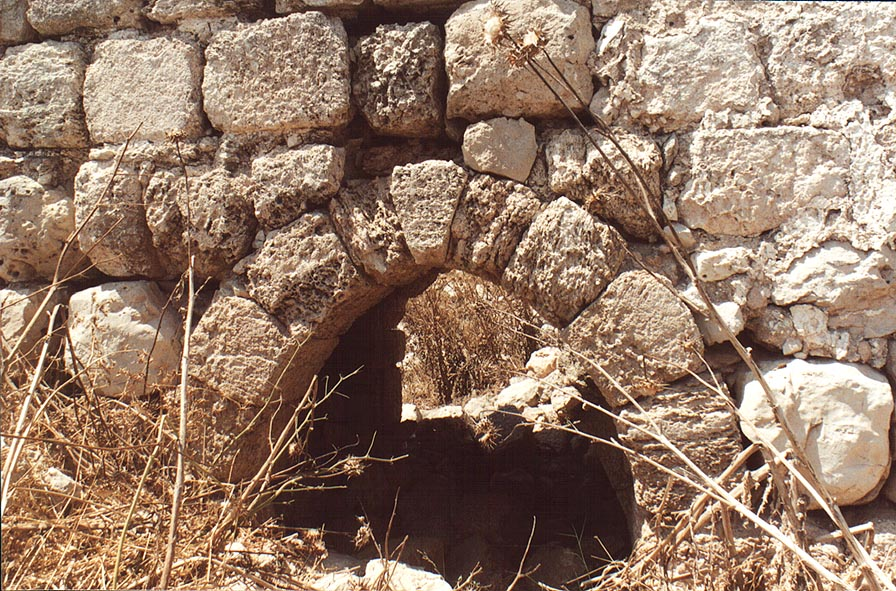 A gate in the wall of Bet Atab village, 4 miles east from Beit Shemesh. The Middle East