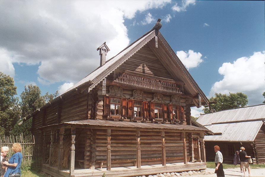 A Russian cabin in the museum of wood. Novgorod, Russia