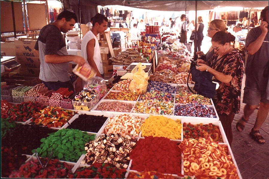 Candy at Bedouin Market. Beer-Sheva, the Middle East