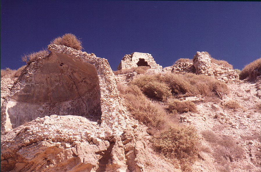 Ruins of an ancient Crusader's fortress...in southern Ashkelon. The Middle East