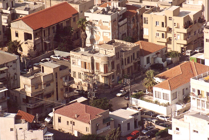 View of area near Hatabor and Rabinovitch St...tower. Tel Aviv, the Middle East