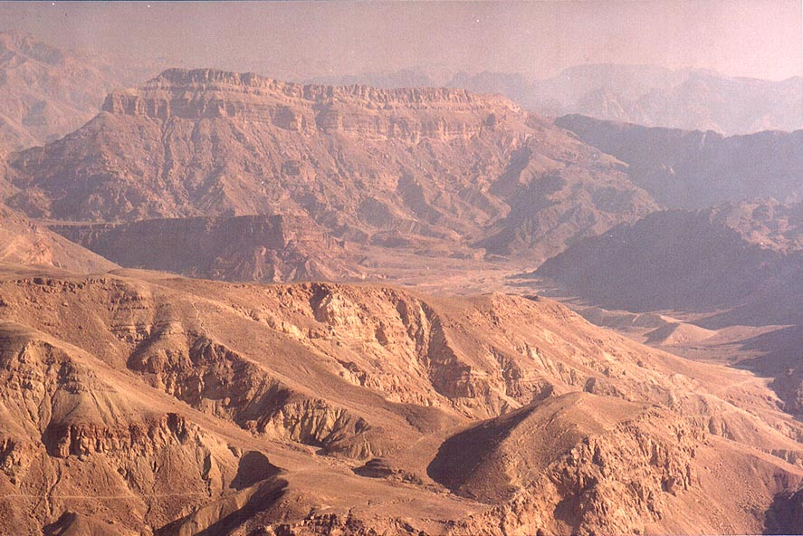 View of valley of Nahal Roded creek and Mount...north-west from Eilat. The Middle East