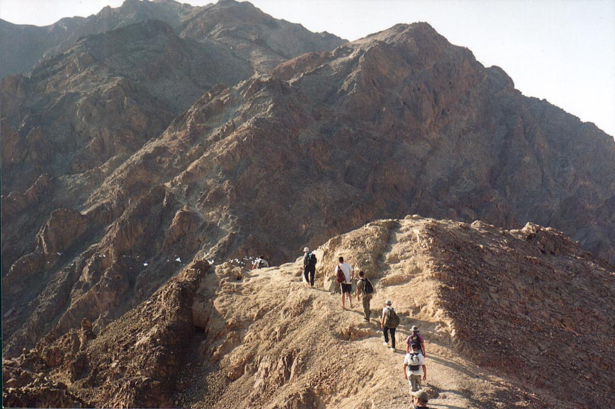 Approaching Mount Shelomo from the northern ridge...north-west from Eilat. The Middle East